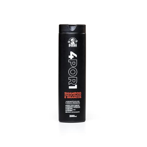 Shampoo Cabelo Grisalho e Branco - 4POR1 - Barba de Respeito