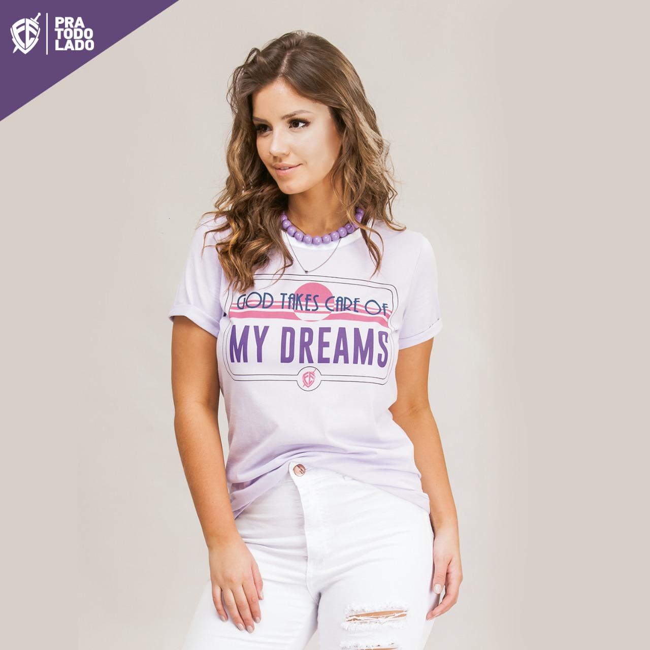 T-SHIRT FÉ - DREAMS - LILÁS