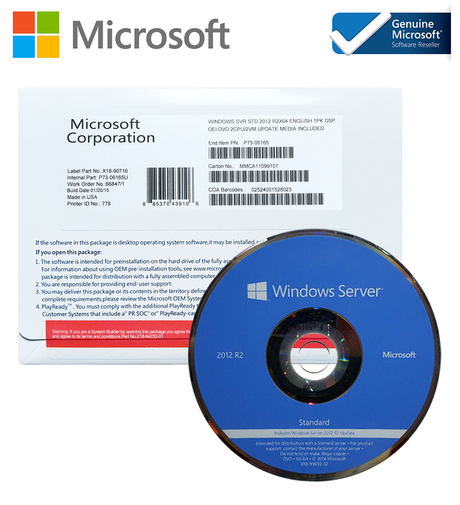 Microsoft Windows Server Standard 2012 R2 Box OEM