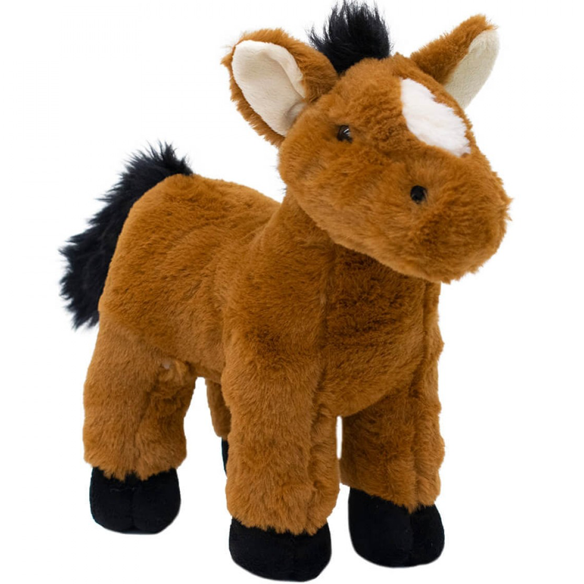 Cavalo Marrom Em Pé 28 - Pelúcia