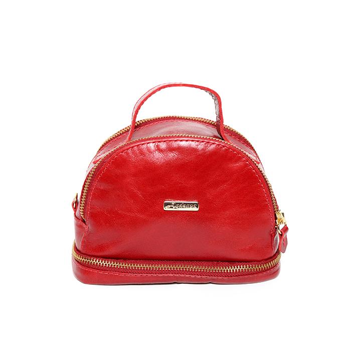 Bolsa de Couro Pequena  ANDANZA Vermelha