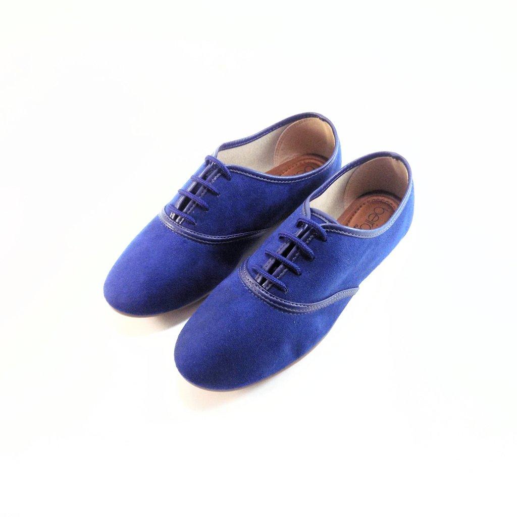 Sapato Oxford em Camurça Beira Rio - Marinho 4150.200