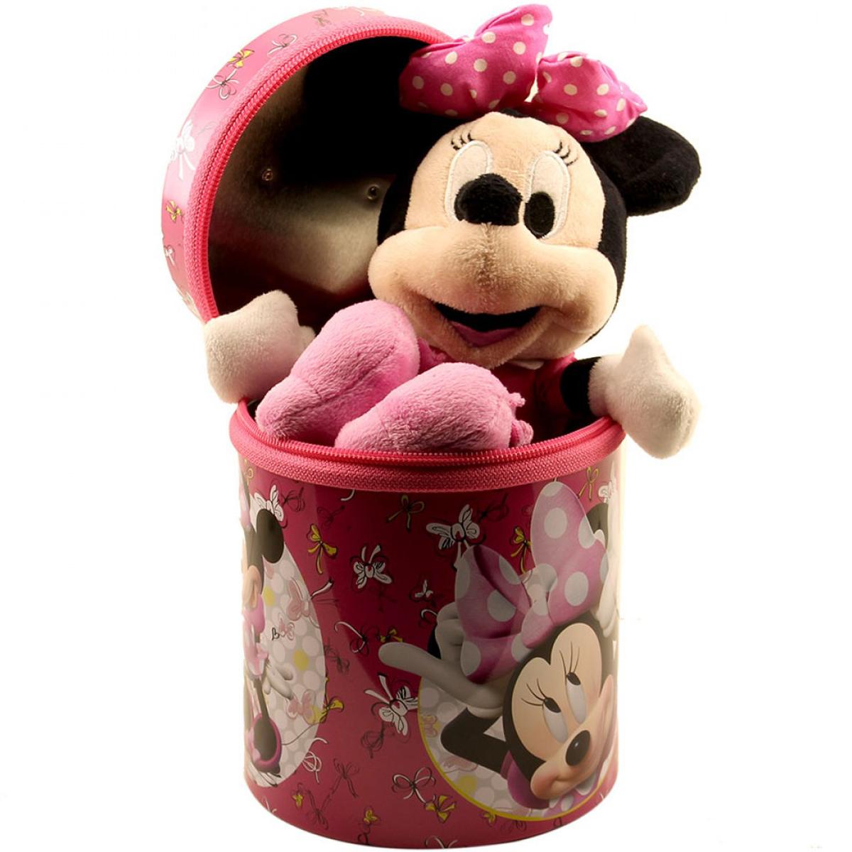 Boneca Chaveiro Minnie Rosa 23cm Na Lata - Disney