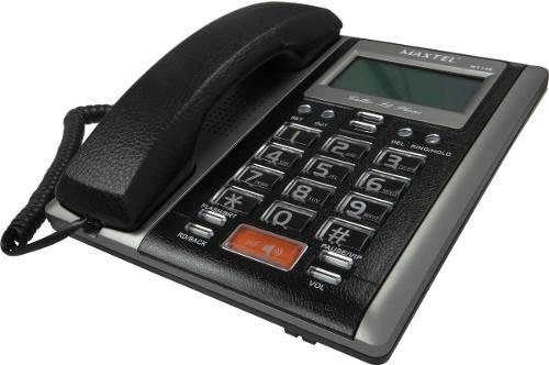 Aparelho Telefone C/ Fio ID Chamadas Viva Voz  Prata  MT-149  Maxtel
