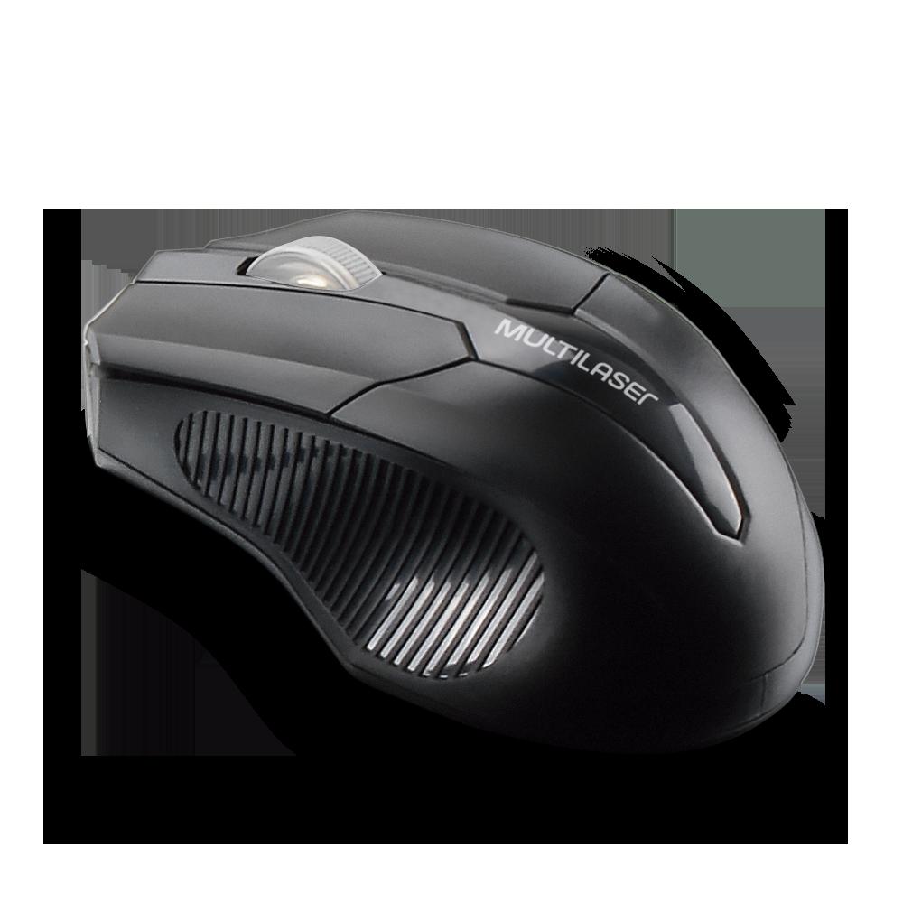 Mouse Óptico Sem Fio 2.4GHZ USB Preto - MO264 - Multilaser