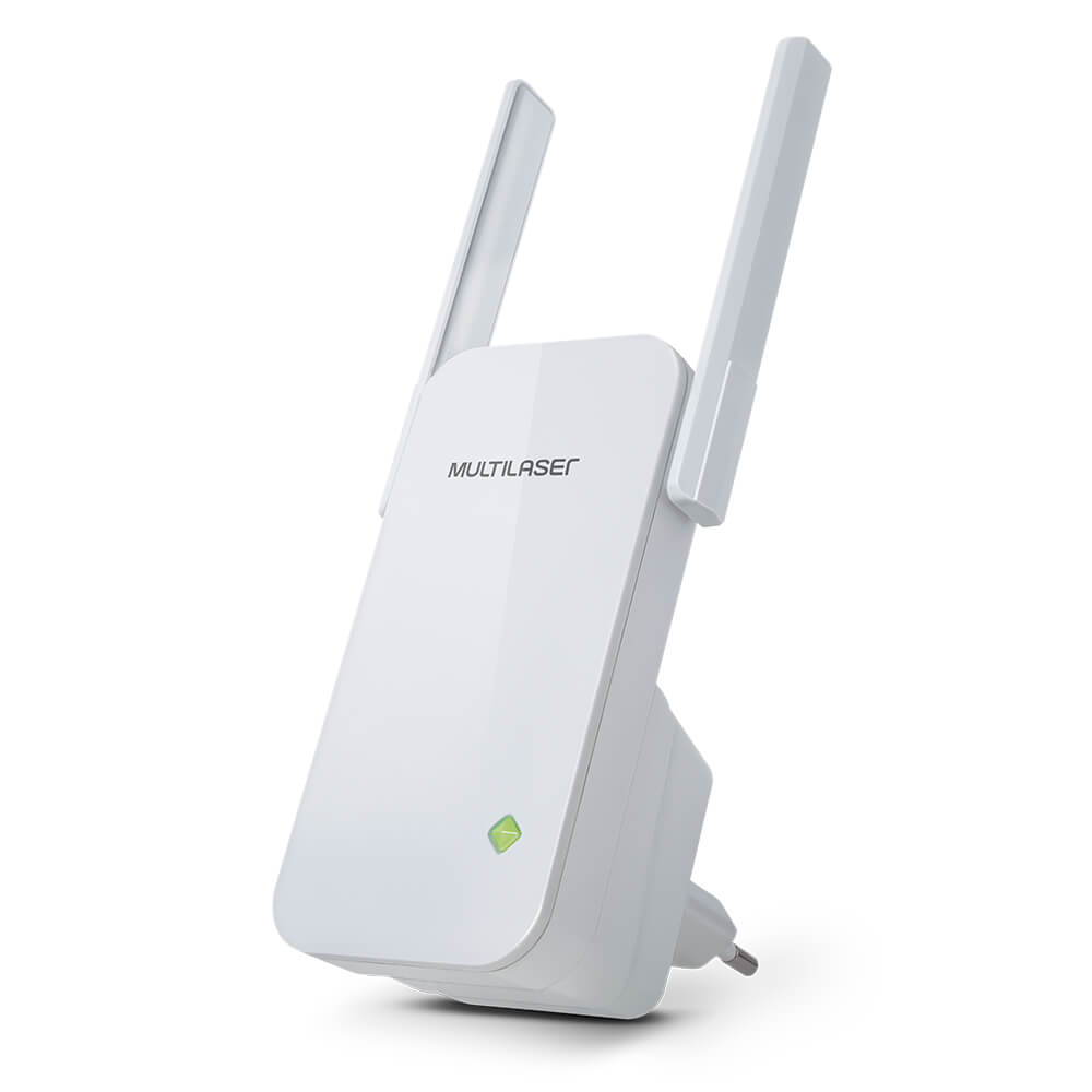 Repetidor Roteador Sinal 300Mbps 2 Antenas Externas Branco - RE056 - Multilaser
