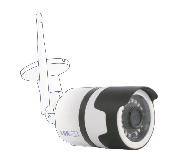 Câmera IP Externa Wi-Fi Sem Fio 720p Visão Noturna Onvif IP66  Luatek
