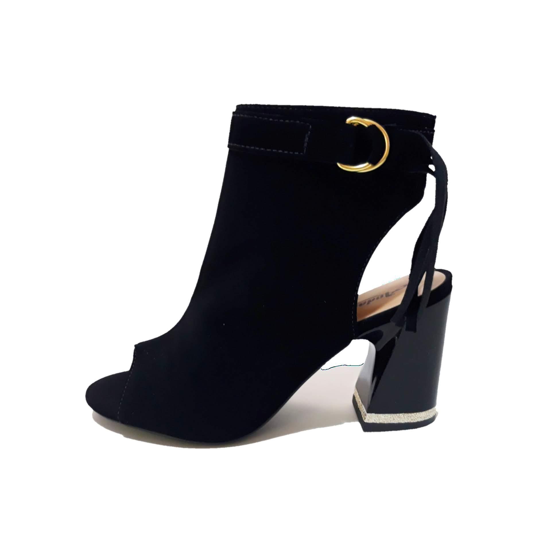 Sandália Ankle Boot Preta