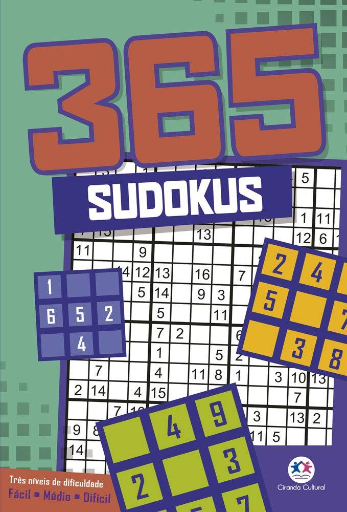 365 sudokus: Três níveis de dificuldade - Fácil - Médio - Difícil