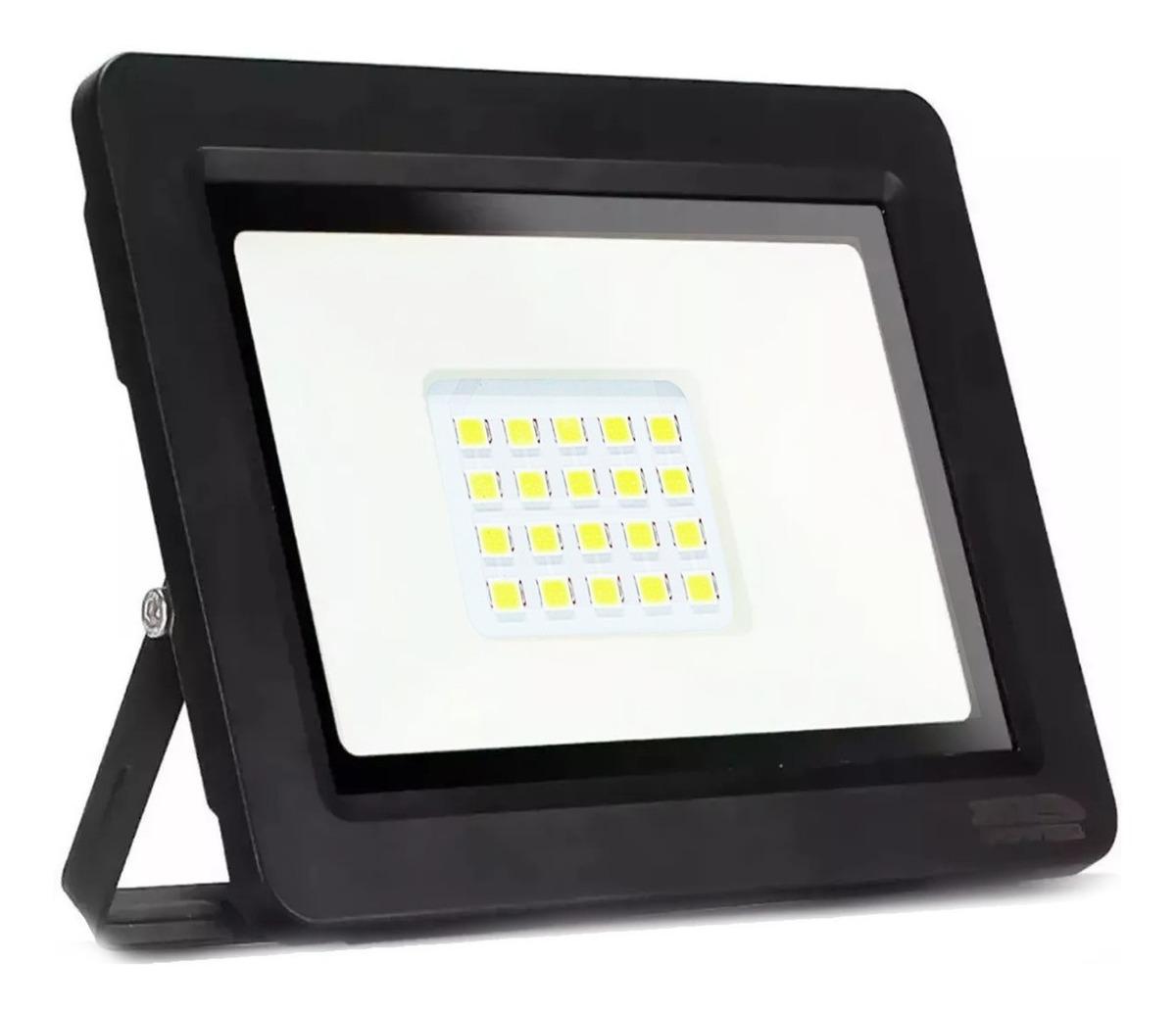 Refletor Holofote LED RTK Slim SMD 50W Branco Frio Bivolt