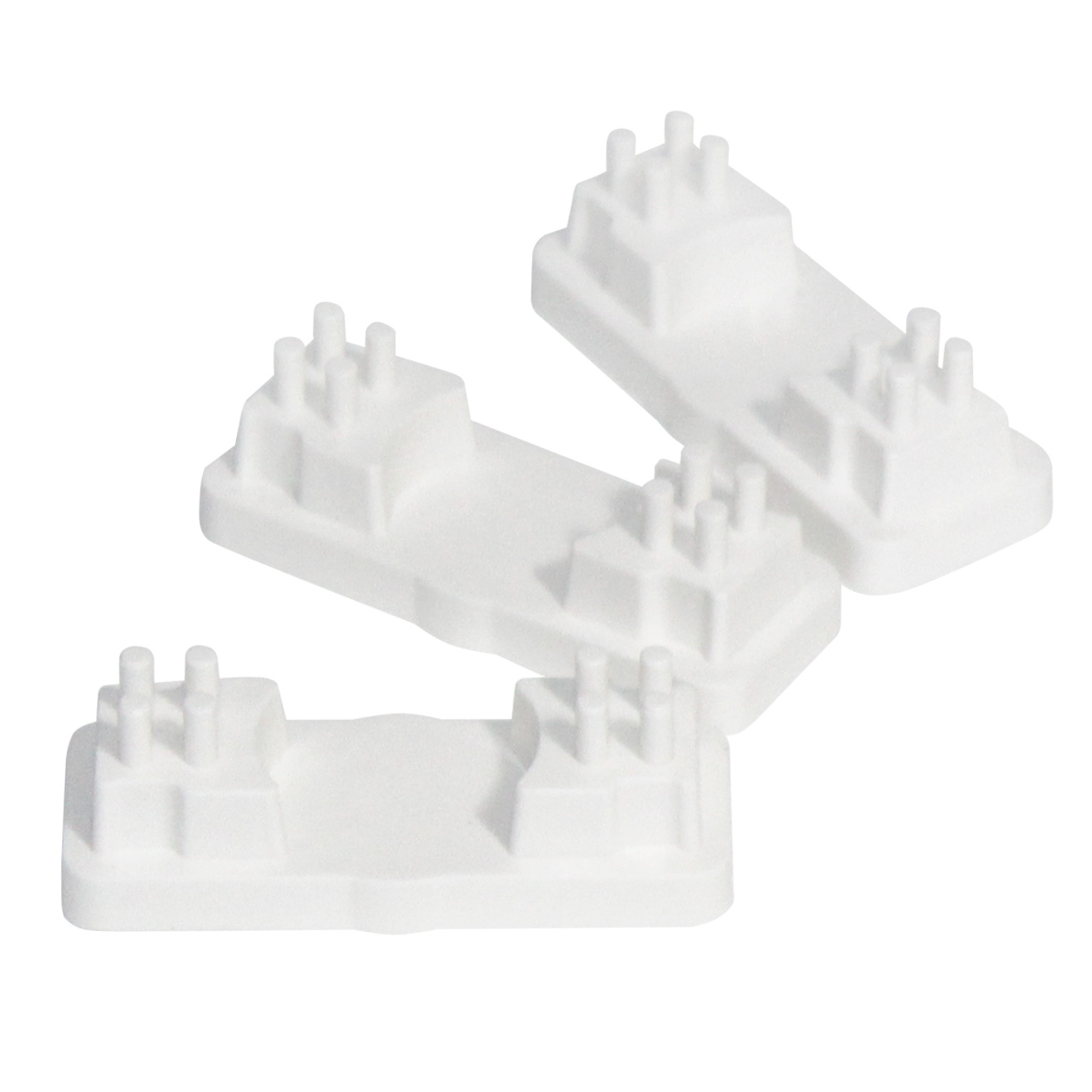Placa de vedação arcada parcial (Pacote com 3 unidades)