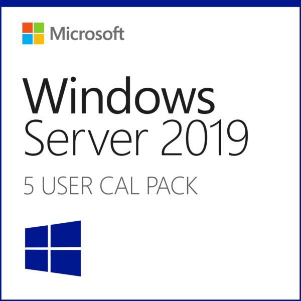 Microsoft 5 Cal Usuario Remoto p/ Windows Server 2019 Standard