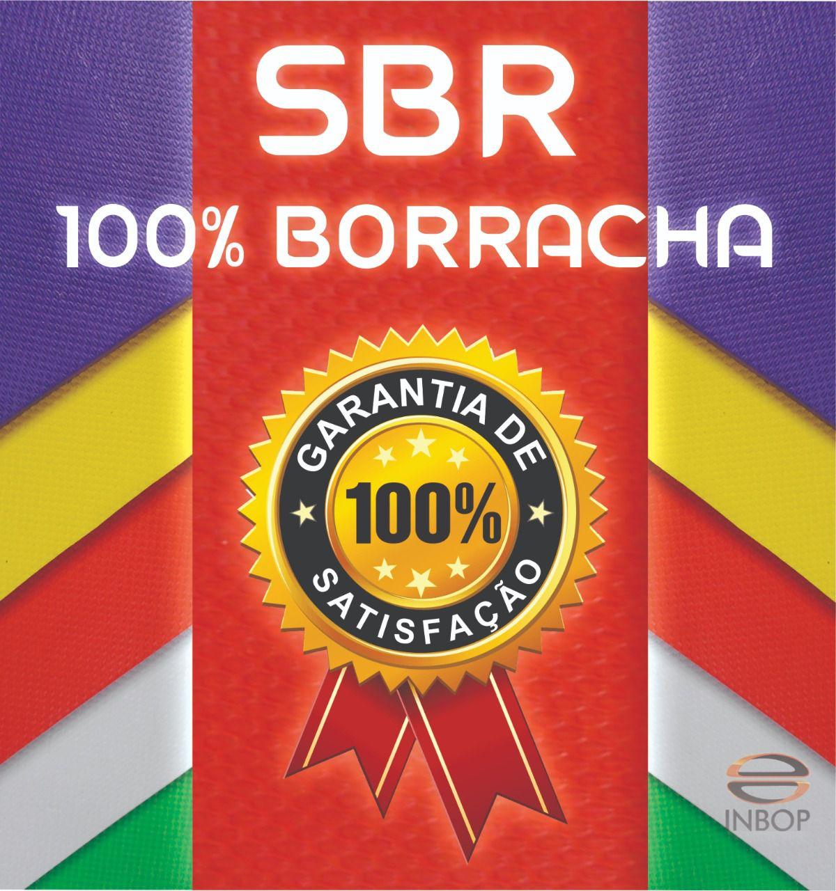 Placa 100% Borracha SBR RETA - 1,30 x 0,85 - Espessura 14MM