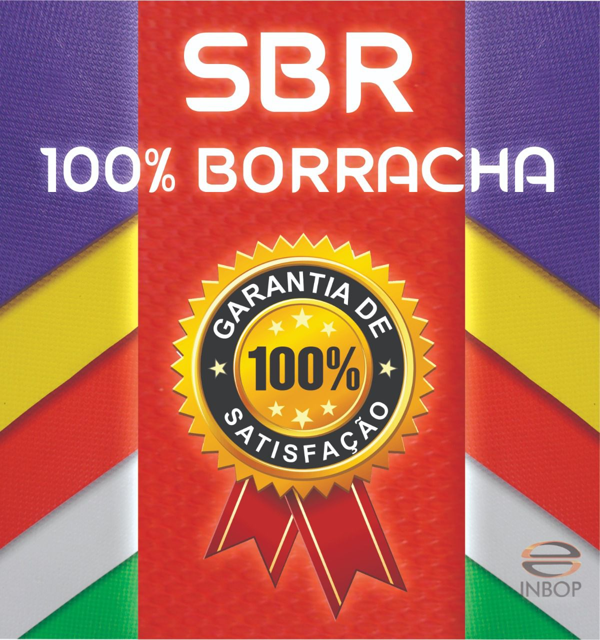 Placa 100% Borracha SBR FLAT - 1,20 x 0,80 - Espessura 11MM