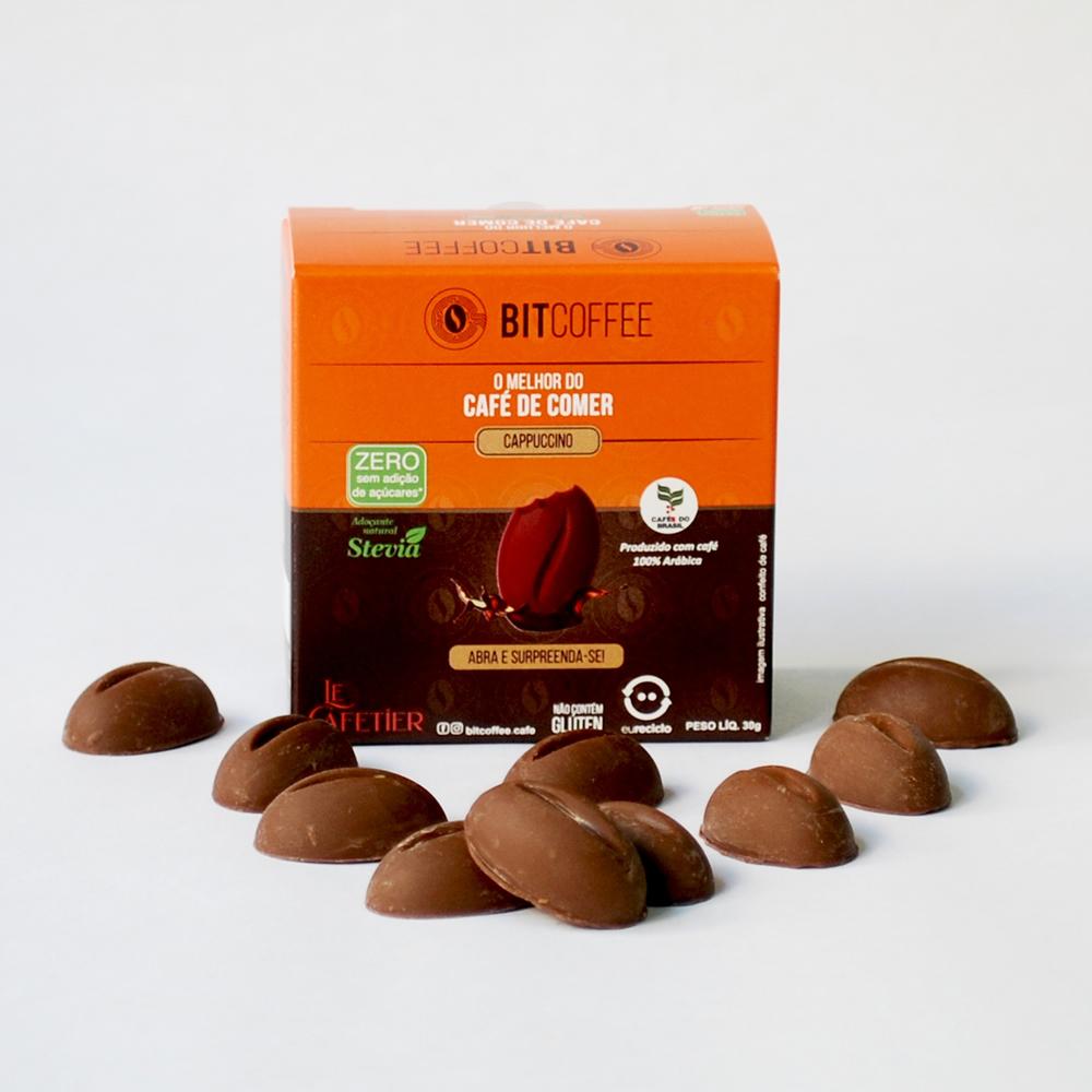 Confeito de Café Sabor Cappuccino 30g - Zero Açúcar
