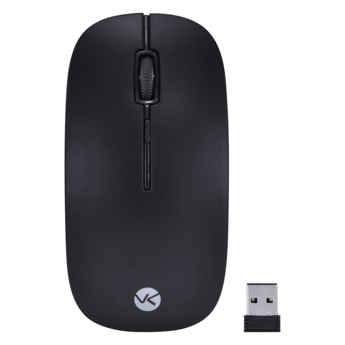 Mouse Sem Fio 2.4 GHZ 1200 DPI Dynamic Flat Preto USB - DM100 - Vinik