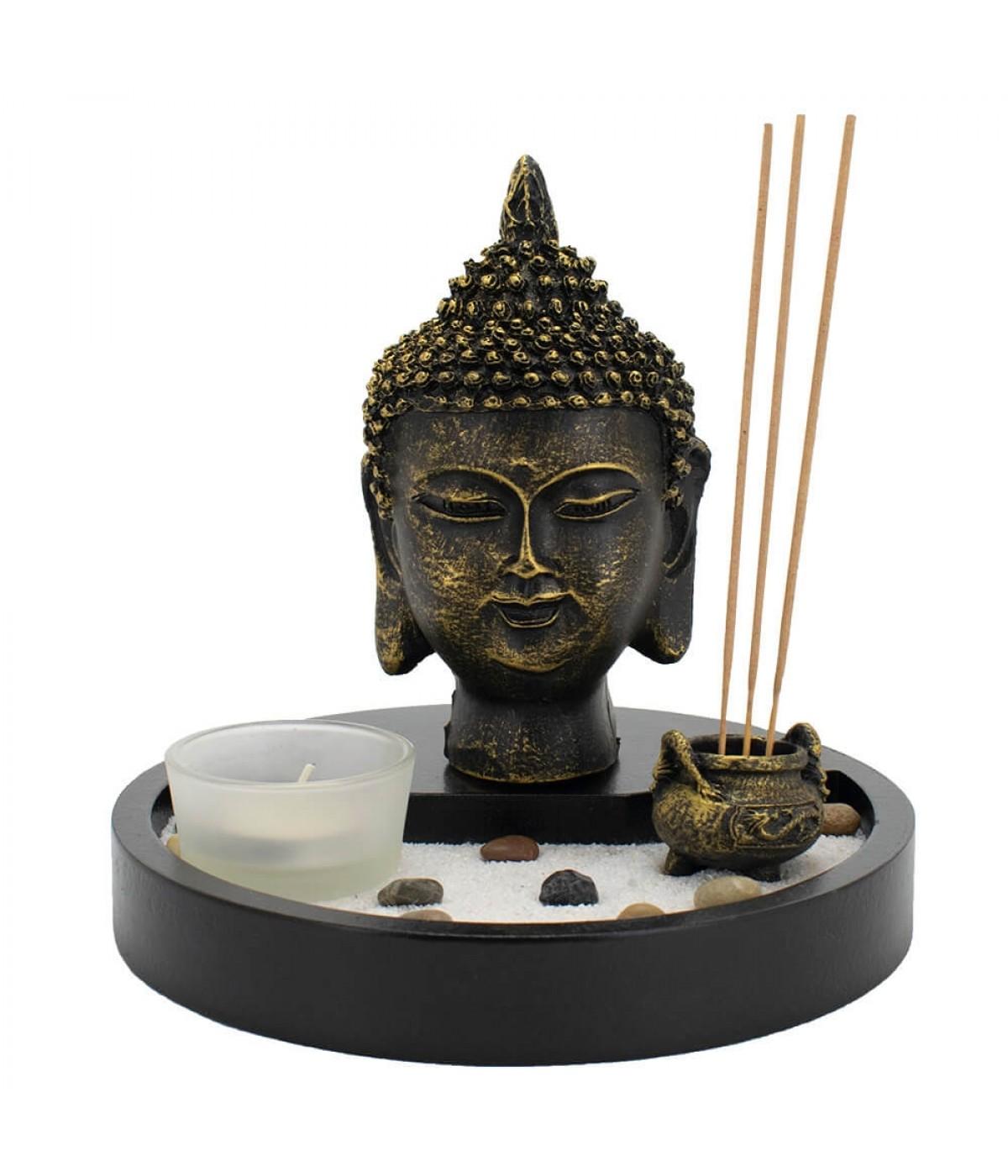 Busto Buda Jardim Zen 15cm