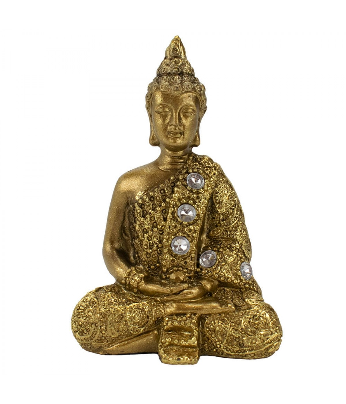 Buda Dourado Dhyani Mudra 8.5cm