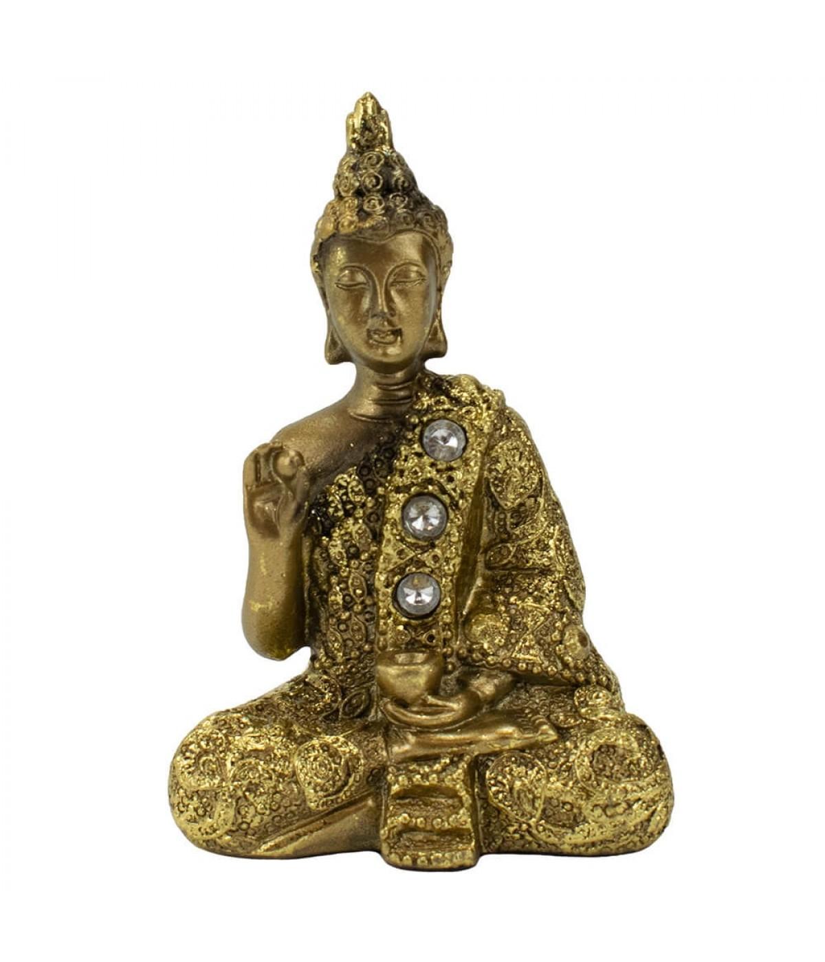 Buda Dourado Vitarka Mudra 8.5cm