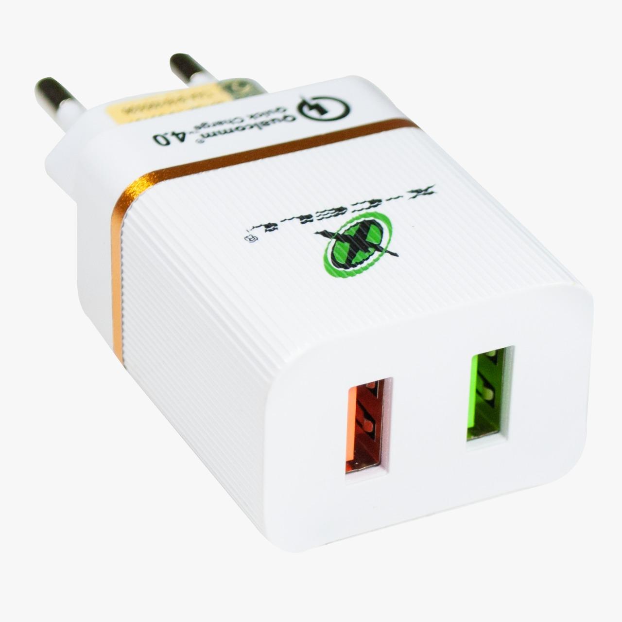 Carregador Ultra Rápido Qualcomm Quick Charge 4.0 C/ 2 USB - XC-UR-15 - X-Cell