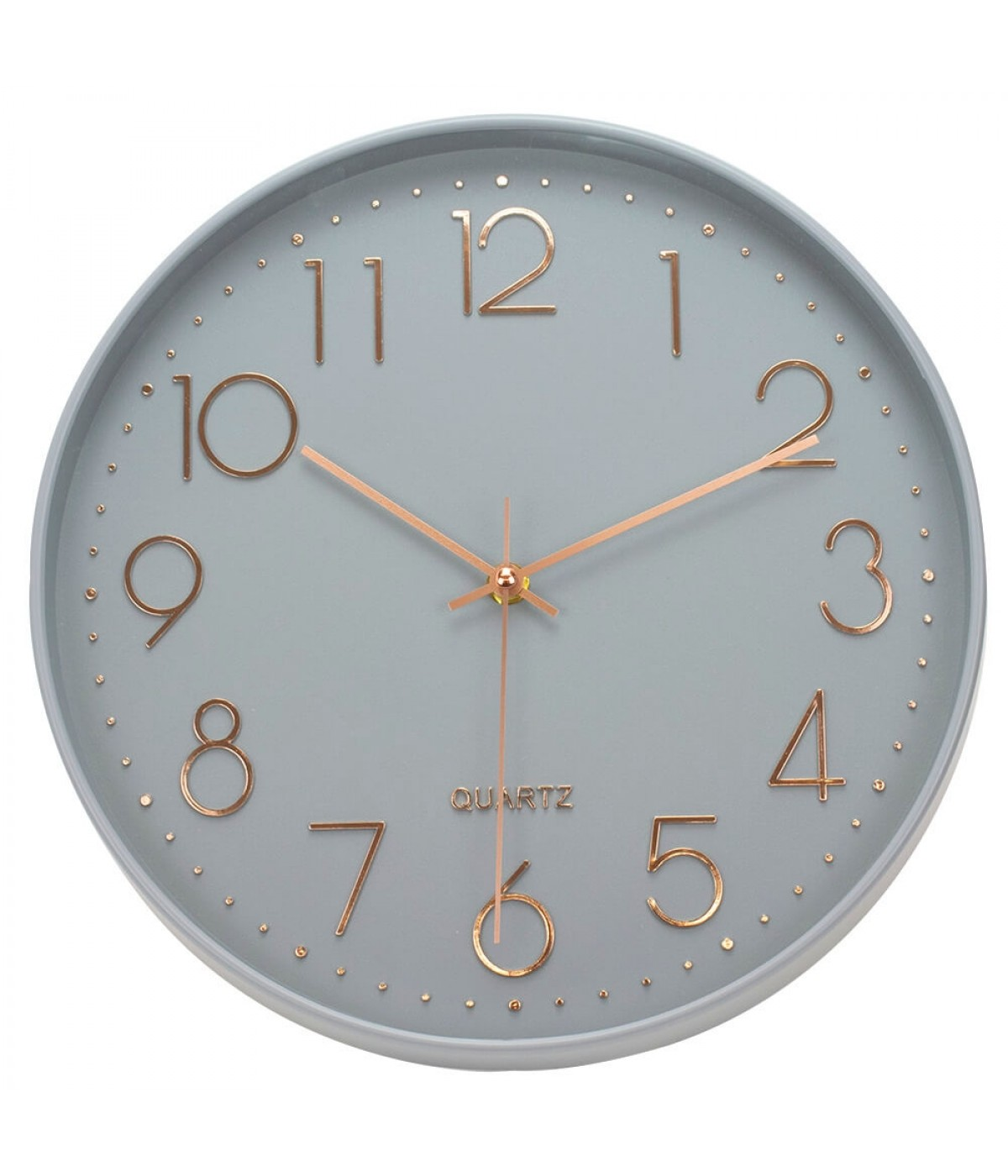 Relógio Parede Cinza 30x30cm