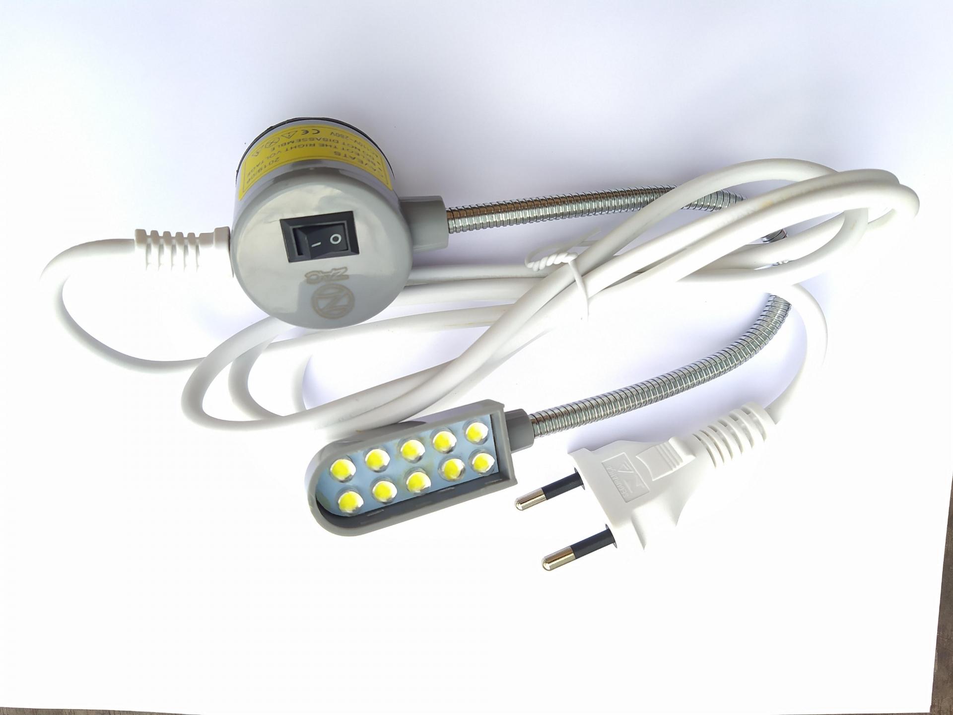 Farolete LED para maquinas de costura Magnético e articulável 10 LEDs