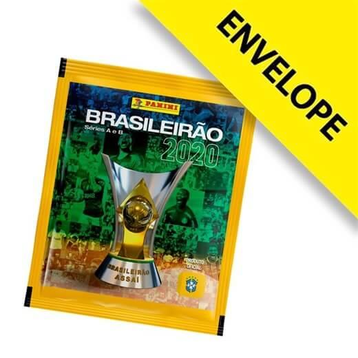 Figurinhas Campeonato Brasileiro 2020 - Envelope com 5 cromos