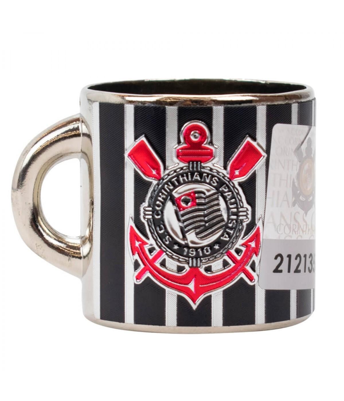 Mini Caneca Decorativa Ímã Metal 3.5cm - Corinthians