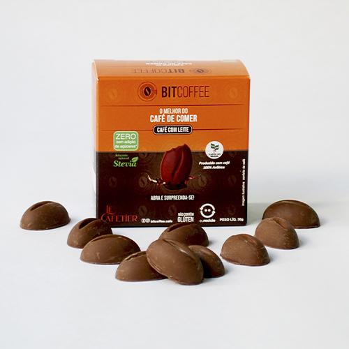 Confeito de Café Sabor Café com Leite 30g - Zero Açúcar