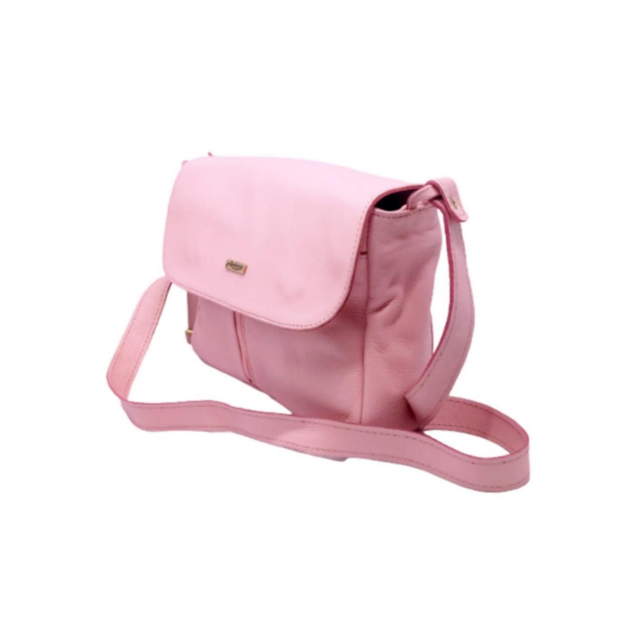 Bolsa de Couro Feminina Pink