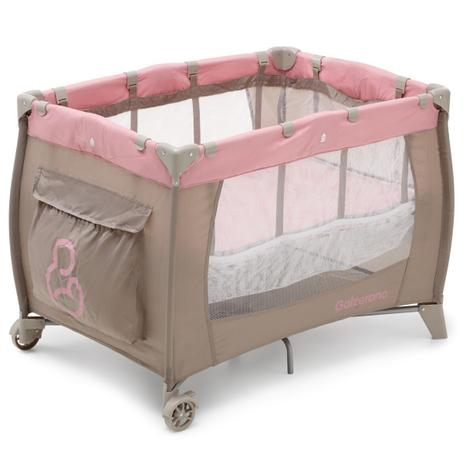 Berço De Bebê Portátil Sonho Cappuccino/rosa - Galzerano