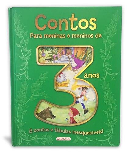 Contos para meninas e meninos de 3 anos - Col. 8 contos e fábulas inesquecíveis!