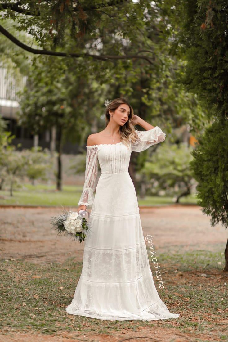 VESTIDO PRECIOSIDADE PARA CASAMENTO NA PRAIA, NO CAMPO, PRÉ WEDDING, MINI WEDDING