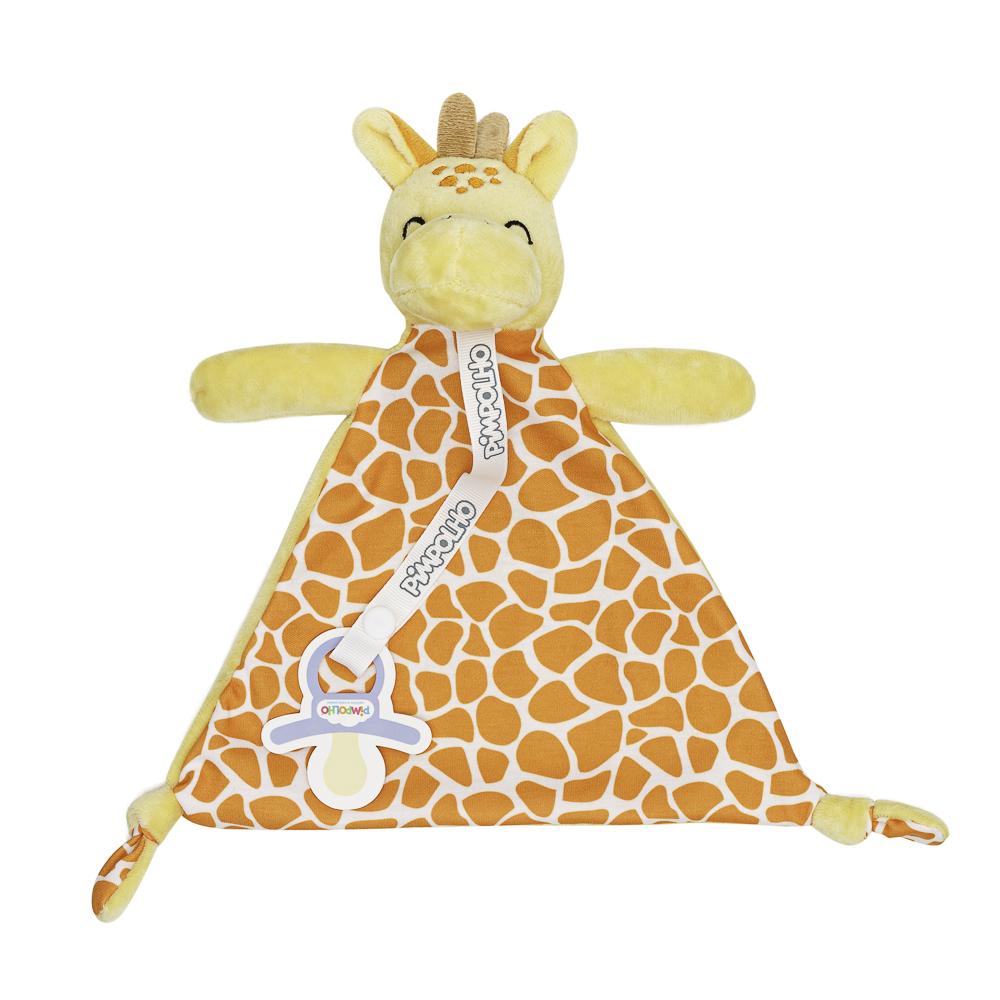 Naninha Com Prendedor De Chupeta Pimpolho Amarelo/girafa