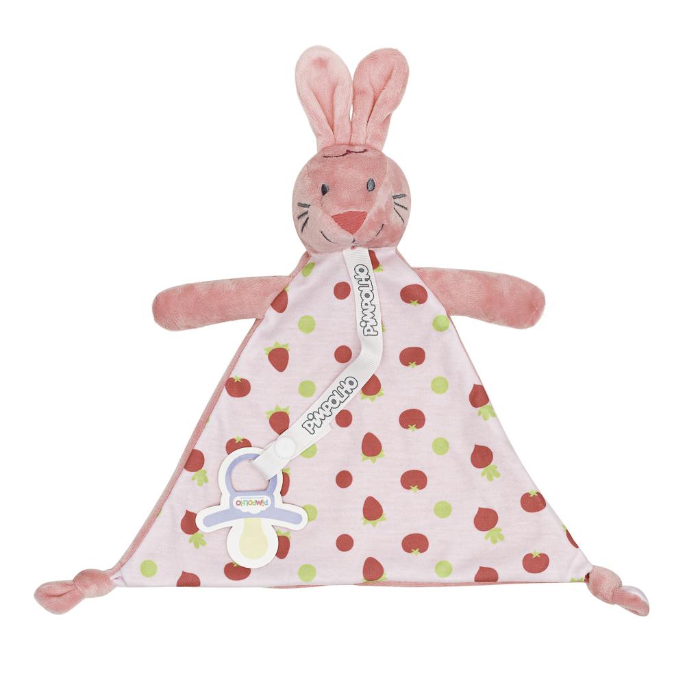 Naninha Com Prendedor De Chupeta Pimpolho Rosa/coelho