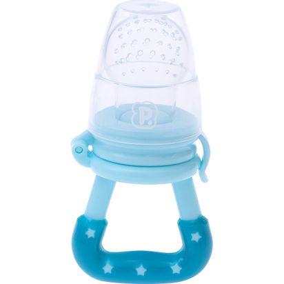 Alimentador Infantil De Silicone Azul - Pimpolho