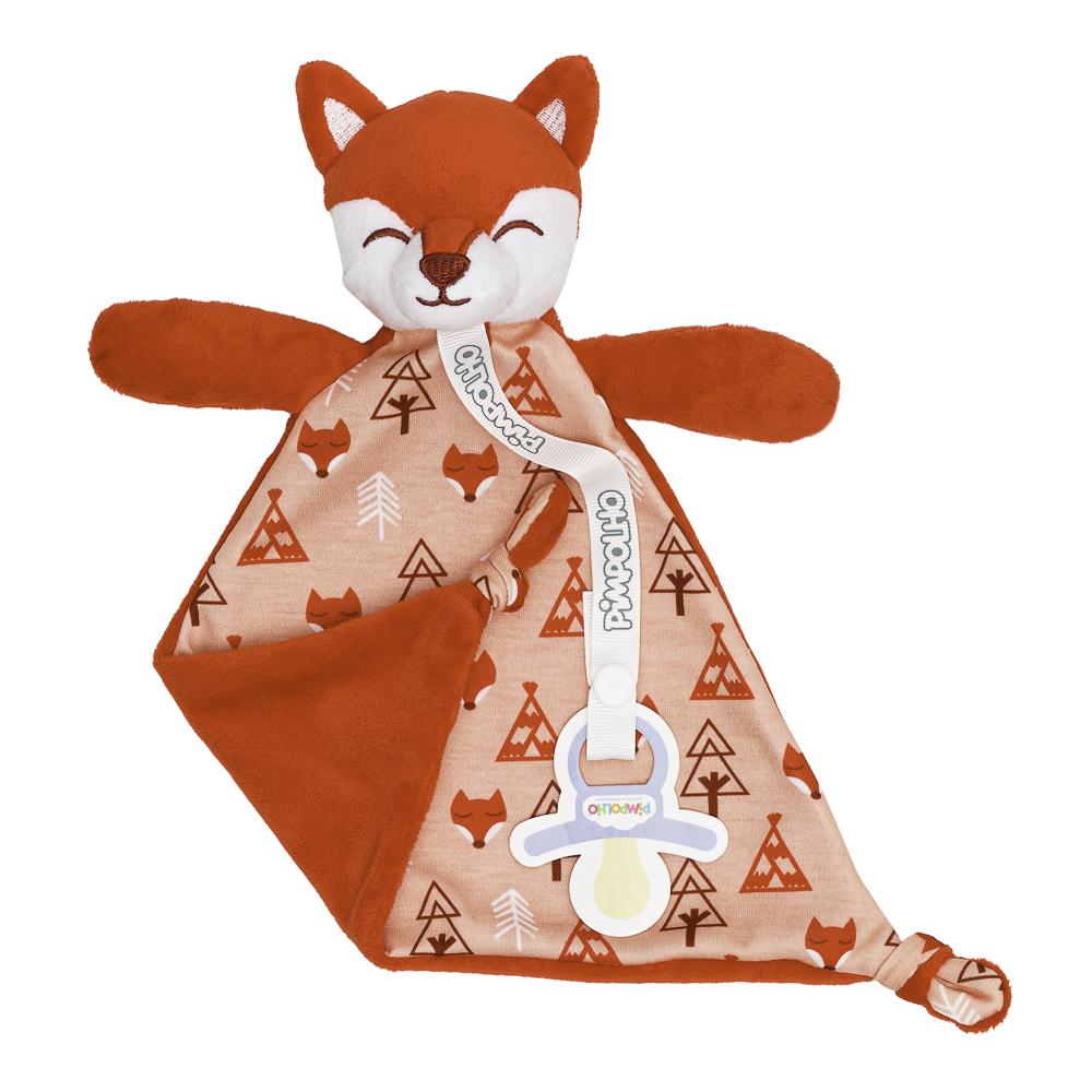 Naninha Com Prendedor De Chupeta Pimpolho Vermelho/raposa