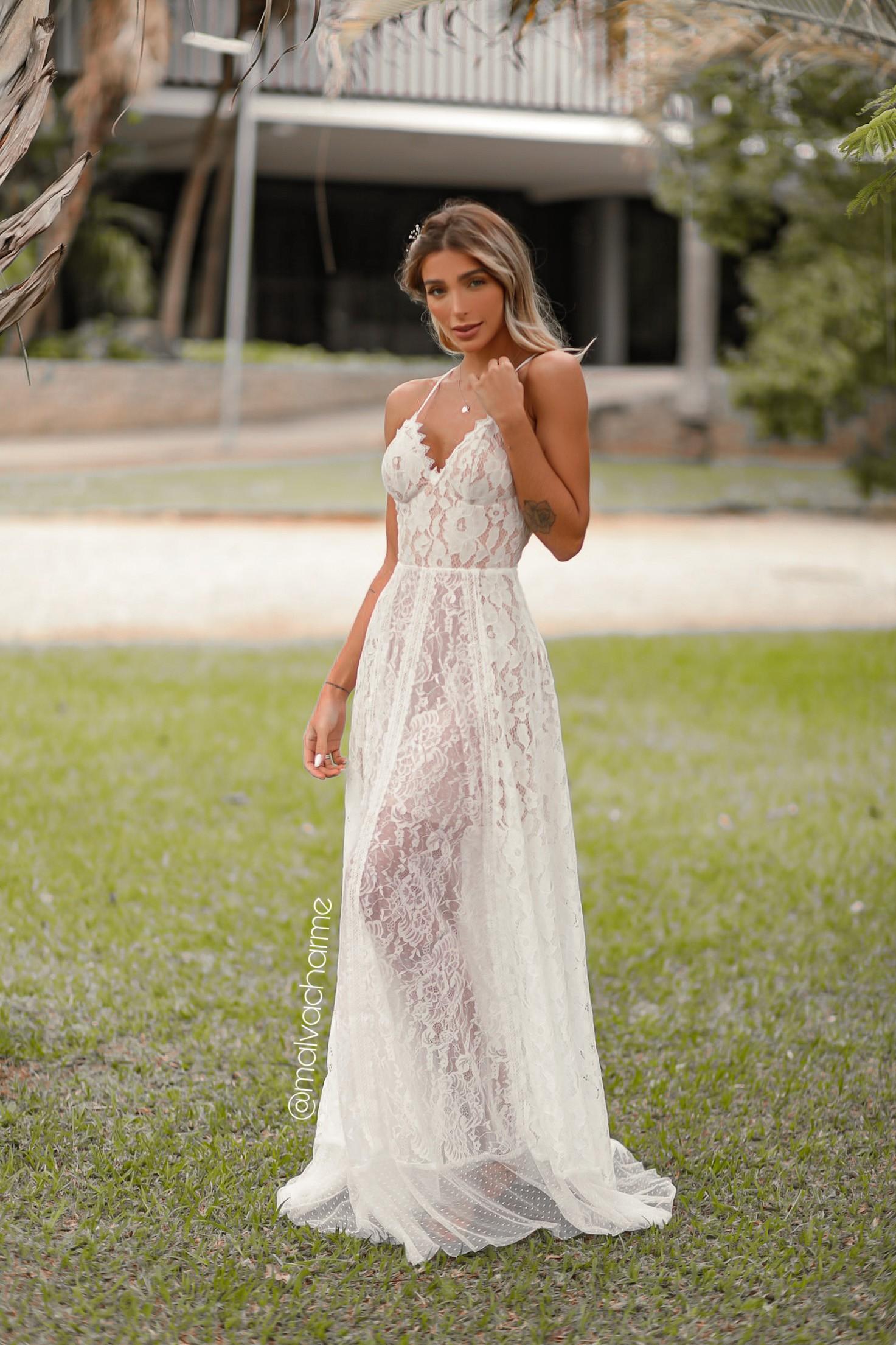 VESTIDO DIAMANTE PARA CASAMENTO NA PRAIA, NO CAMPO, PRÉ WEDDING, MINI WEDDING