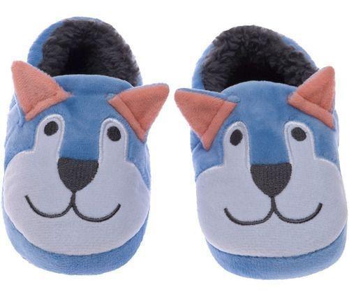 Pantufa Play Infantil Azul Cachorro Masculino Pimpolho 20/21