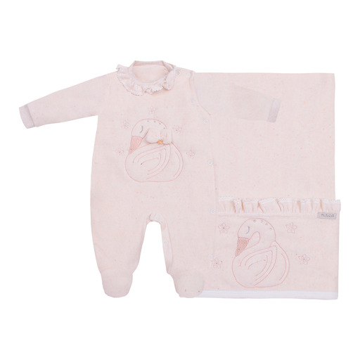 Saida Maternidade Cisne Rn Linho - Miniclo
