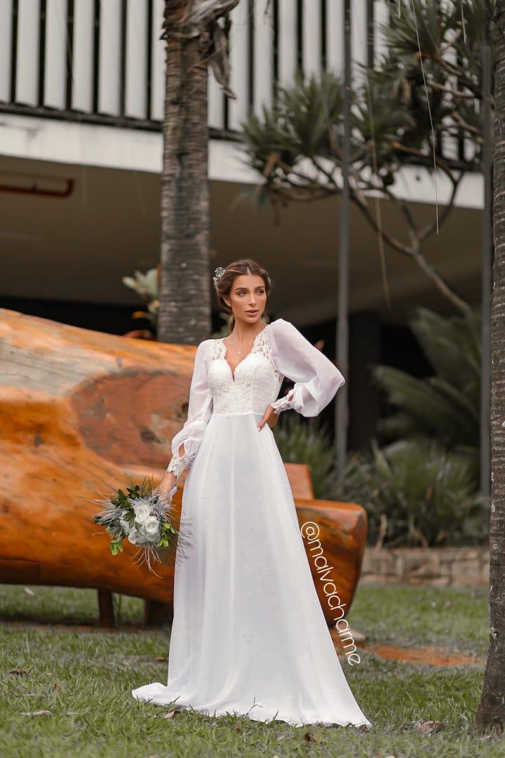VESTIDO GRACIOSIDADE PARA CASAMENTO NA PRAIA, NO CAMPO, PRÉ WEDDING, MINI WEDDING