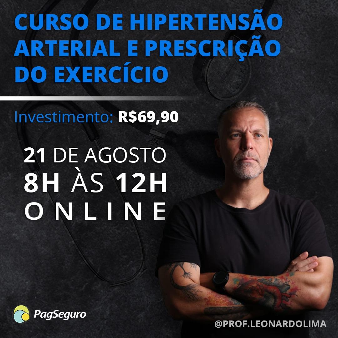 CURSO DE HIPERTENSÃO ARTERIAL E PRESCRIÇÃO DO EXERCÍCIO