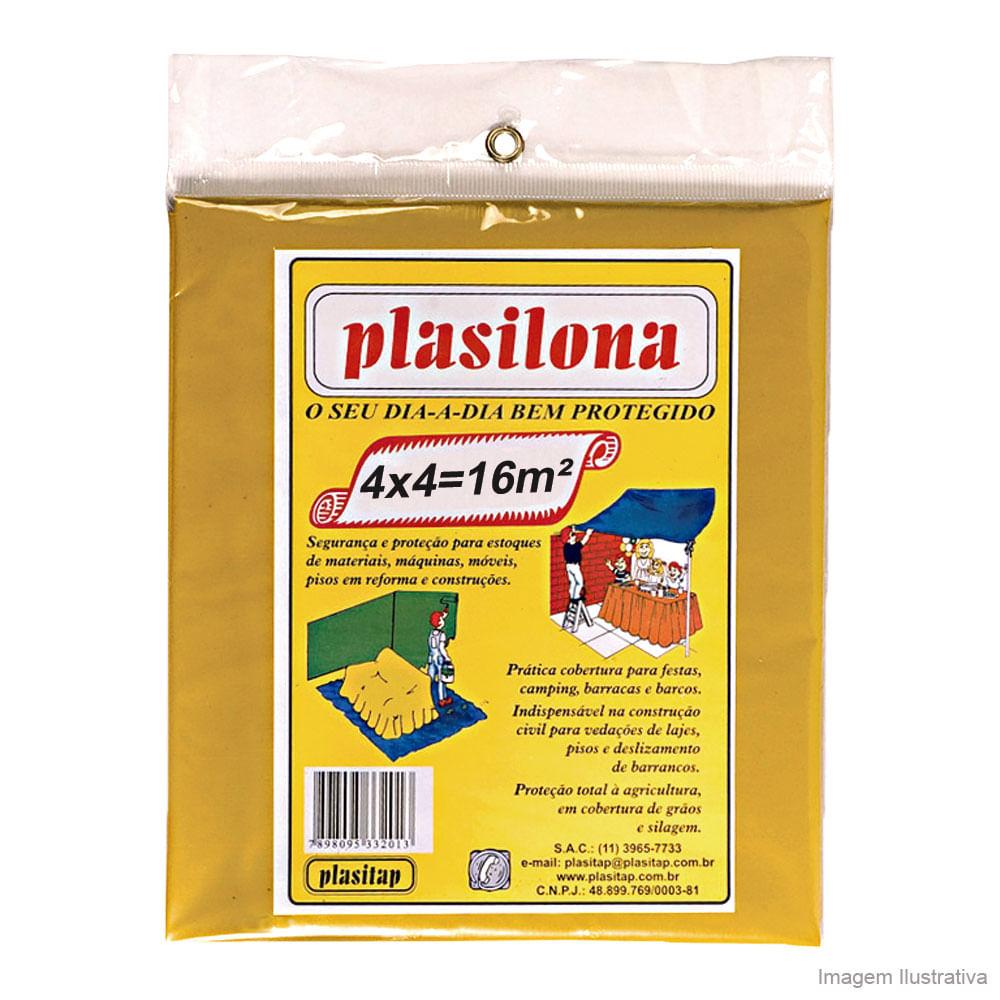 Lona Plástica Plasilona 4 X 4 M Amarela Plasitap