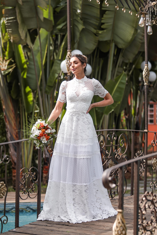VESTIDO SONHO REAL PARA CASAMENTO NA PRAIA, NO CAMPO, PRÉ WEDDING, MINI WEDDING