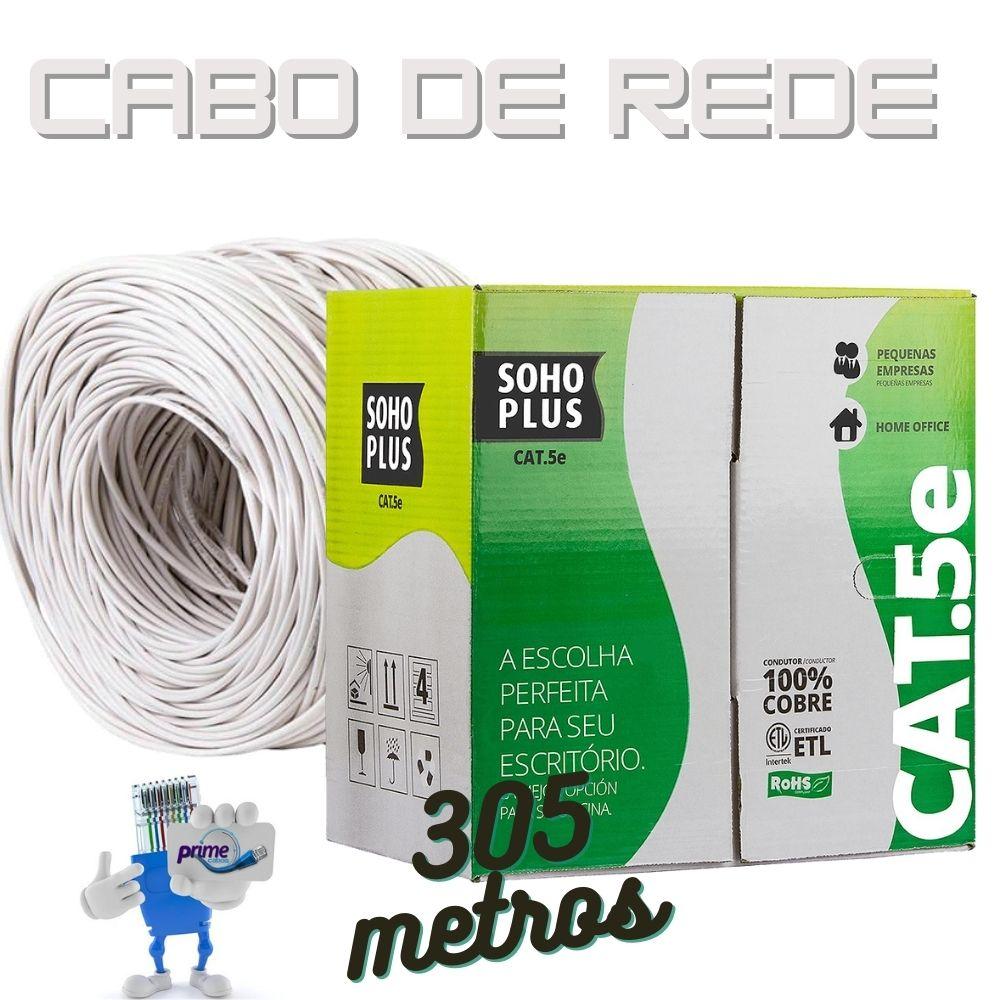 Cabo de Rede UTP 4P Cat.5e SohoPlus Furukawa Branco, Caixa 305 Metros
