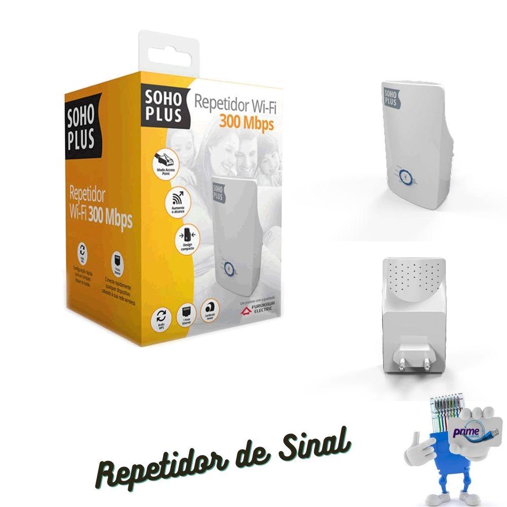 Repetidor de Sinal WiFi SohoPlus Furukawa Wireless N 300 Mbps