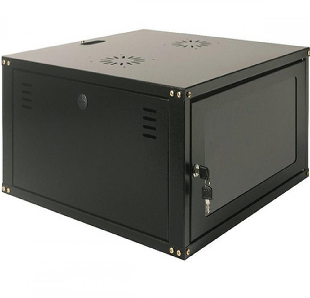 Mini Rack 7U x 550 mm Parede 19 Fechado Com Porta em Policarbonato
