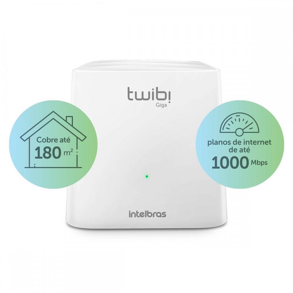 Roteador Wireless Intelbras Twibi Giga Wi-Fi 5 Mesh AC 1200