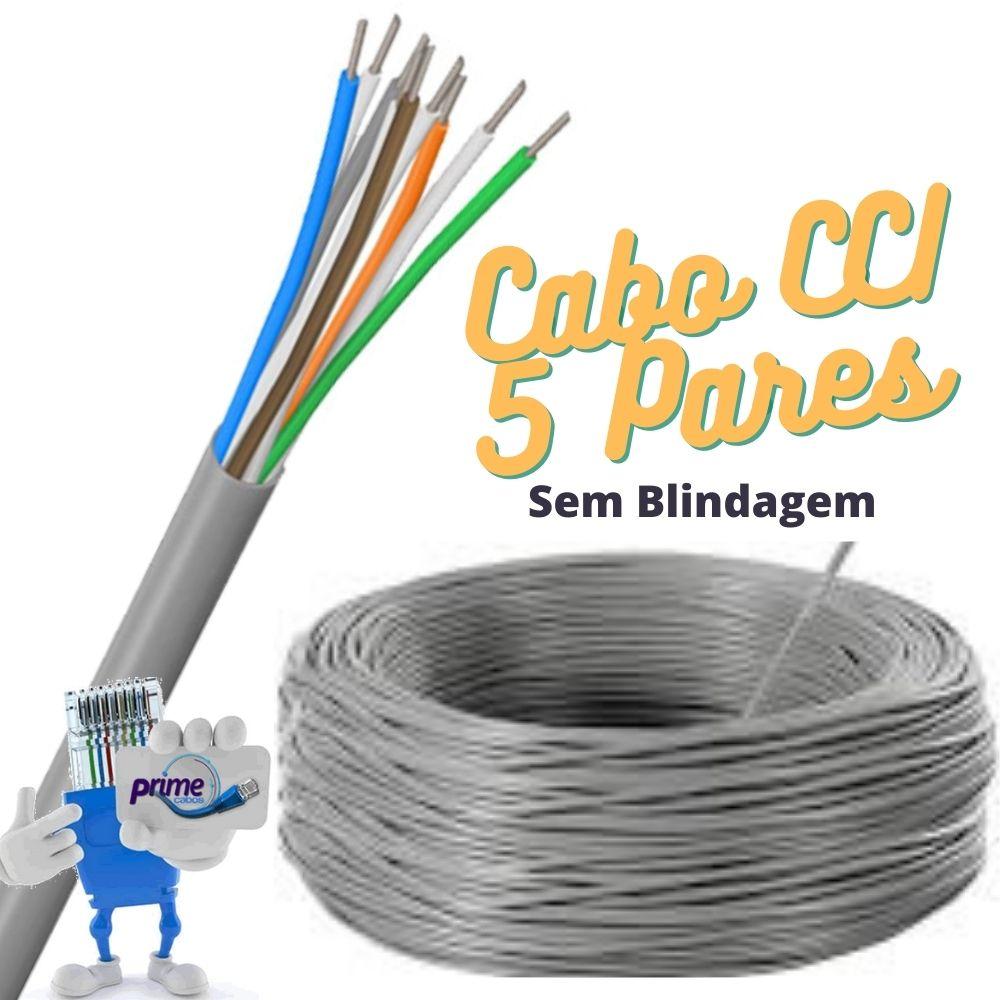 Cabo Telefônico Interno CCI 50x05 Pares com 200 Metros