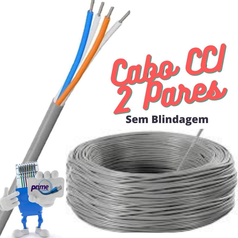 Cabo Telefônico Interno CCI 50x02 Pares com 200 Metros
